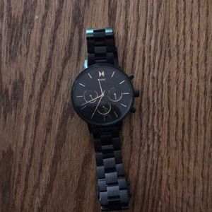 MVMT watch Women's Black with Rose Gold Numbers